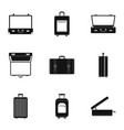 tourism bag icon set simple style vector image vector image