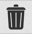 trash bin garbage icon in flat style trash bucket vector image