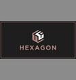 uf hexagon logo design inspiration vector image vector image