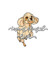 unconditional love with dog vector image vector image