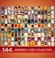 Vertical business cards collection vector image