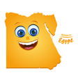 welcome to egypt smiley map vector image