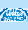 winter banner ice and icicles vector image