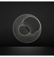 Wireframe Object with Lines and Dots Abstract 3D vector image vector image