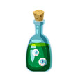 witch s potion in the bottle with eyes holiday vector image