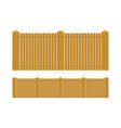 wooden fence set isolated on white background vector image vector image