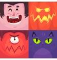 Happy halloween Set of Halloween characters vector image