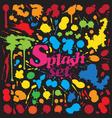 Ink Splash Set vector image