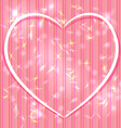 Abstract pink background with stripes light glare vector image