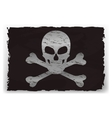 a black pirate flag vector image