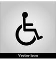 Disabled Handicap Icon on grey background vector image
