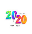 2020 new year colour banner logo for holidays vector image vector image