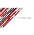 abstract red grey hi-tech futuristic technology vector image vector image
