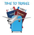 air travel international vacation concept vector image