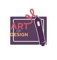 art of design colorful logo label isolated on vector image vector image