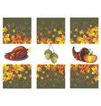 Autumn banners with leaves and pumpkinsturkey vector image vector image