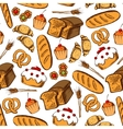 Bakery and pastry seamless background vector image vector image