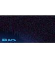big data visualization data stream crumbling down vector image vector image