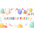 birthday party frame pastel colored garlands vector image vector image