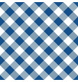 blue and white argyle tablecloth seamless pattern vector image vector image