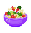 bowl of salad dieting and vegetarian appetizer vector image vector image