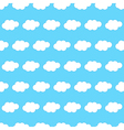 Cloud seamless background vector image