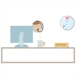 Customer support service vector image vector image