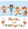 Cute Christmas kids vector image vector image