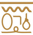different rope elements and forms isolated on vector image