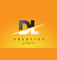 dl d l letter modern logo design with yellow vector image vector image