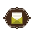 eco mail vector image vector image