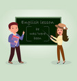 english lesson flat tutor vector image