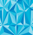 Faceted effects blue background pattern of the vector image vector image
