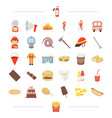 fast food cafe business and other web icon in vector image