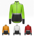female reflective jacket isolated on transparent vector image vector image