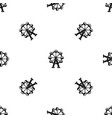 ferris wheel pattern seamless black vector image vector image
