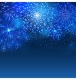 Firework blue vector image vector image