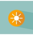Flat icon sun on blue background vector image vector image
