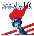 Fourth of July Liberty Torch USA flag EPS 8 vector image