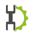 gears with wrench isolated icon design vector image vector image