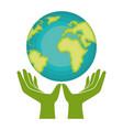 go green world planet vector image