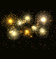 golden fireworks display background vector image