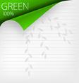 green corner vector image vector image