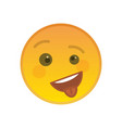 happy cheeky emoticon with tongue out vector image