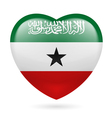 Heart icon of Somaliland vector image vector image