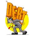 heavy debt vector image vector image