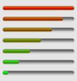 horizontal progress bars completion loading vector image vector image