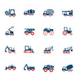 industrial transport icon set vector image vector image