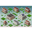 Isometric Historic American Building vector image vector image