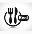 kcal icon vector image